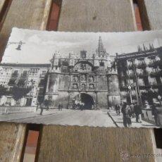 Postales: POSTAL CIRCULADA BURGOS ARCO Y PUENTE DE SANTA MARIA. Lote 39513577