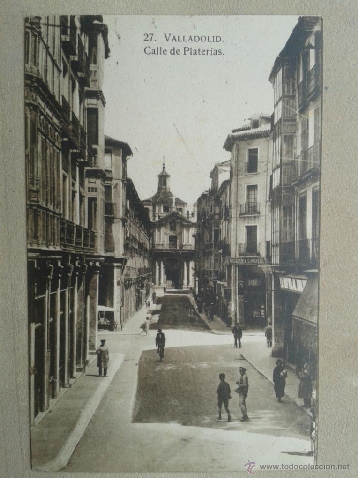 Postal antigua Valladolid. Calle de Platerías. segunda mano