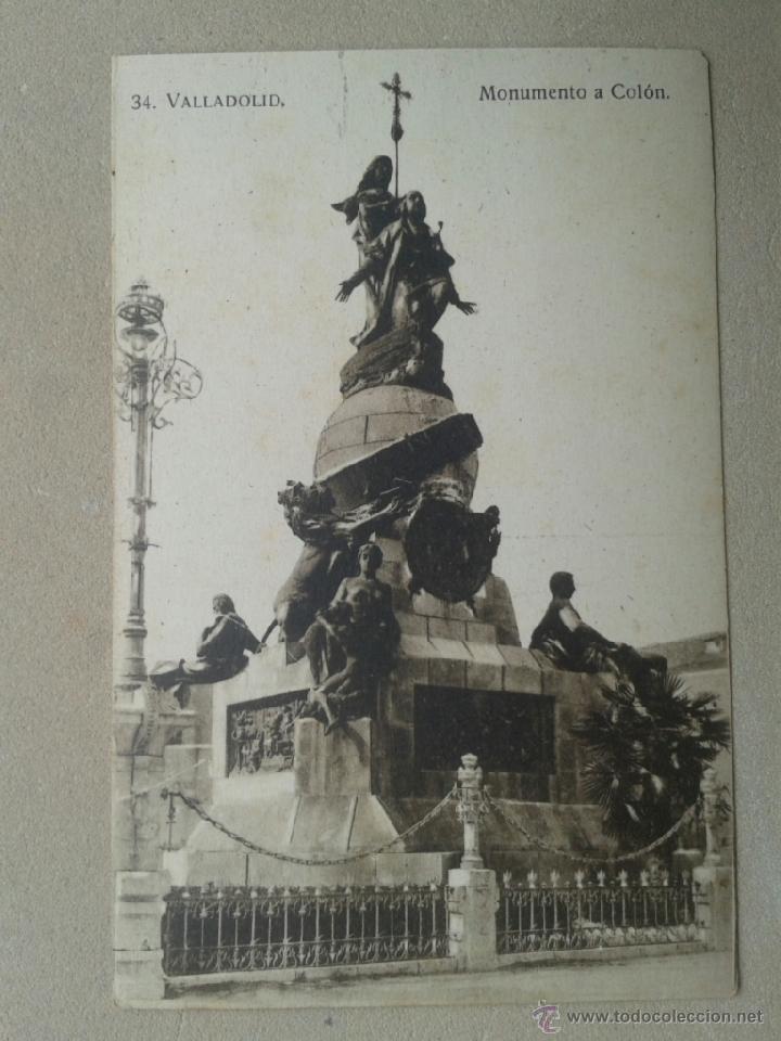 Postal antigua Valladolid. Monumento a Colón. segunda mano