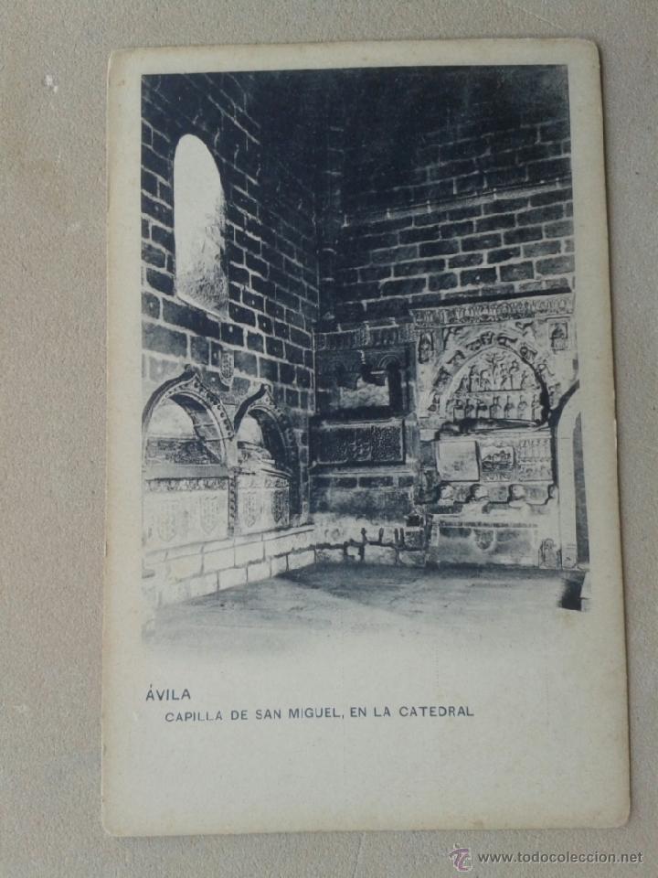 POSTAL ANTIGUA ÁVILA. CAPILLA DE SAN MIGUEL. DORSO SIN DIVIDIR. (Postales - España - Castilla y León Antigua (hasta 1939))