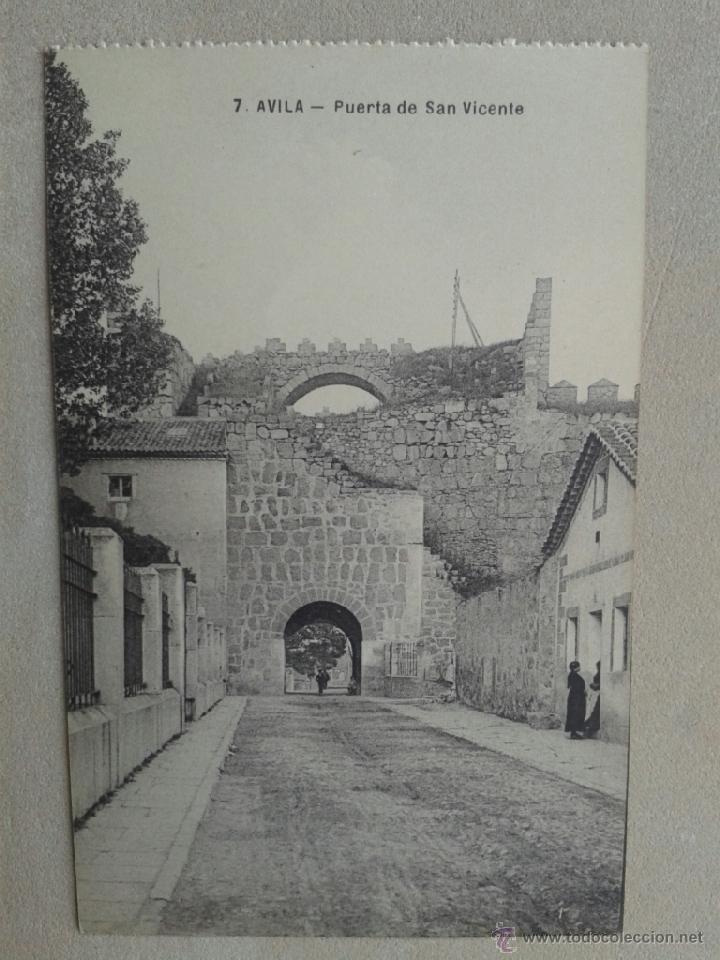 POSTAL ANTIGUA ÁVILA. PUERTA DE SAN VICENTE. (Postales - España - Castilla y León Antigua (hasta 1939))