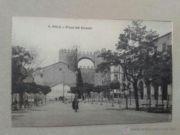 POSTAL ANTIGUA ÁVILA. PLAZA DEL ALCÁZAR. (Postales - España - Castilla y León Antigua (hasta 1939))