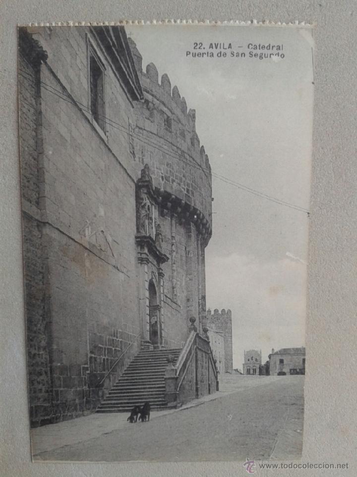 POSTAL ANTIGUA ÁVILA. CATEDRAL. PUERTA DE SAN SEGUNDO. (Postales - España - Castilla y León Antigua (hasta 1939))
