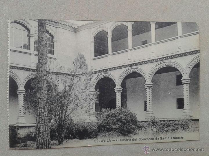 POSTAL ANTIGUA ÁVILA. CLAUSTRO DEL CONVENTO DE SANTO THOMÁS. (Postales - España - Castilla y León Antigua (hasta 1939))