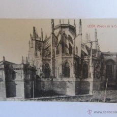 Postales - Postal antigua de León. Abside de la Catedral. Fot. Thomas. Sin circular - 40140250