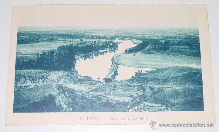 ANTIGUA POSTAL DE TORO - ZAMORA - VISTA DE LA CAMPIÑA - NO CIRCULADA . (Postales - España - Castilla y León Antigua (hasta 1939))