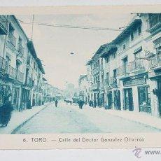 Postkarten - ANTIGUA POSTAL DE TORO - ZAMORA - CALLLE DEL DOCTOR GONZALEZ OLIVEROS - CON TIENDAS DE LA EPOCA - - 39521973