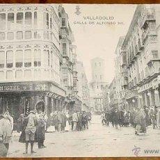 Postales: ANTIGUA POSTAL DE VALLADOLID - CALLE DE ALFONSO XII - L. J. - HAUSER Y MENET - SIN CIRCULAR. Lote 39542733