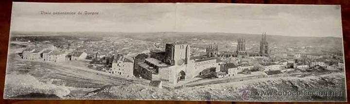 ANTIGUA POSTAL DOBLE DE BURGOS - VISTA PANORAMICA - UNION POSTAL UNIVERSAL - SIN DIVIDIR. (Postales - España - Castilla y León Antigua (hasta 1939))