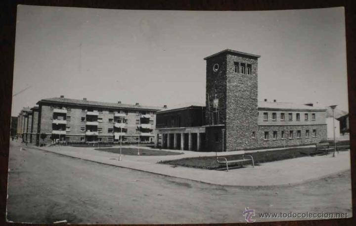 ANTIGUA FOTO POSTAL DE GUARDO (PALENCIA) - AYUNTAMIENTO - ED. SICILIA, CIRCULADA (Postales - España - Castilla y León Antigua (hasta 1939))