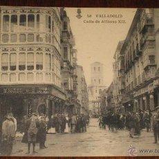 Postales: ANTIGUA POSTAL DE VALLADOLID - CALLE DE ALFONSO XII - L. J. - HAUSER Y MENET - SIN CIRCULAR - . Lote 39550798