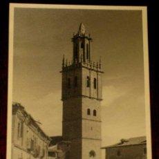 Postales: ANTIGUA FOTO POSTAL DE FUENTES DE NAVA (PALENCIA) PLAZA CON TORRE DE IGLESIA - EXCELENTE ESTADO DE C. Lote 39584865