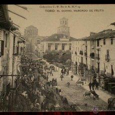 Postales: ANTIGUA POSTAL DE TORO - ZAMORA -EL CHORRO, MERCADO DE FRUTA - COLECCION C B. SERIE A. N. 13 - NO CI. Lote 39587710