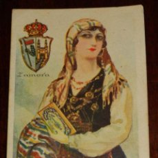 Postales: ANTIGUO CROMO DE ZAMORA, TRAJE REGIONAL - PUBLICIDAD DE CHOCOLATES AMATLLER - MIDE UN POQUITO MENOS . Lote 39609185