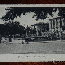 Postales: ANTIGUA POSTAL DE SORIA, ALAMEDA DE CERVANTES, ED. M. ARRIBAS, NO CIRCULADA. . Lote 39612094