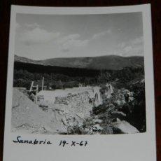 Postales: ANTIGUA FOTOGRAFIA DE OBRAS DE CANALIZACION EN EL LAGO DE SANABRIA, ZAMORA, AÑO 1967, MIDE 13 X 9 CM. Lote 39612244