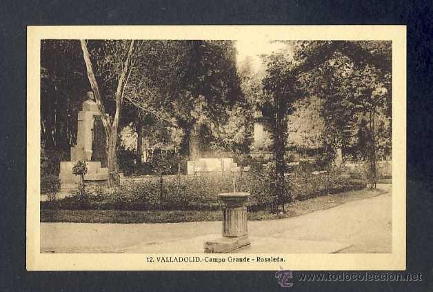 POSTAL DE VALLADOLID: CAMPO GRANDE, ROSALEDA (NUM. 12) (Postales - España - Castilla y León Antigua (hasta 1939))