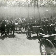 Postales: POSTAL FOTOGRAFICA VALLADOLID MILITARES 14 REGIMIENTO LIGERO 1933. Lote 40291374