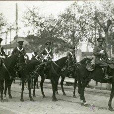 Postales: POSTAL FOTOGRAFICA VALLADOLID MILITARES A CABALLO 1932. Lote 40291482