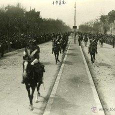 Postales: POSTAL FOTOGRAFICA VALLADOLID 14 ABRIL 1932 DESFILE MILITAR ANTE GENERAL DIVISION DE BATIDORES . Lote 40291506