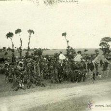 Postales: POSTAL FOTOGRAFICA VALLADOLID TORDESILLAS 1933 MILITARES. Lote 40291755