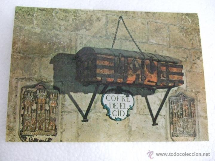 POSTAL BURGOS - COFRE DEL CID - 1969 - SIN CIRCULAR - GARCIA GARRABELLA 80 (Postales - España - Castilla y León Moderna (desde 1940))