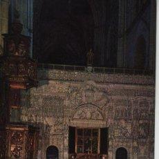 Postales: POSTAL ARCHIVO SANTA IGLESIA CATEDRAL DE PALENCIA- TRASCORO Y TRÍPTICO FLAMENCO. Lote 40619283