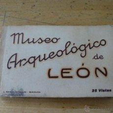 Postales: MUSEO ARQUEOLOGICO DE LEON, BLOC CON 25 POSTALES EN SEPIA, L. ROISIN, 14 X 9 CM.. Lote 40639104