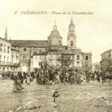 Postales: RRR POSTAL PEÑARANDA DE BRACAMONTE - SALAMANCA - AÑOS 10 - PLAZA DE LA CONSTITUCION. Lote 135231177