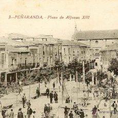 Postales: RRR POSTAL PEÑARANDA DE BRACAMONTE - SALAMANCA - AÑOS 10 - PLAZA DE ALFONSO XIII. Lote 40694226