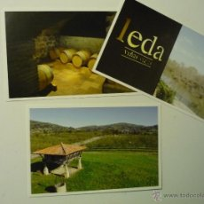 Postales: LOTE POSTALES VALLADOLID BODEGAS LEDA-TUDELA DE DUERO. Lote 40908563