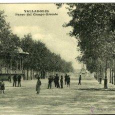 Postales: POSTAL VALLADOLID PASEO DEL CAMPO GRANDE. Lote 40953856
