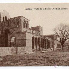 Postales: ÁVILA. VISTA DE LA BASÍLICA DE SAN VICENTE.. Lote 40980169