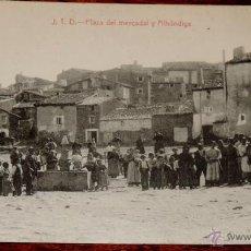 Postales: AGREDA (SORIA) J.T.D., PLAZA DEL MERCADALY ALHONDIGA, EDICION TUDELA, SIN CIRCULAR. Lote 41030474