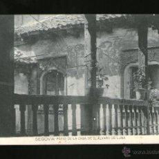 Postales: SEGOVIA PATIO DE LA CASA DE ALVARO DE LUNA - EDICIÓN HAUSER Y MENET - POSTAL - POSTAL . Lote 41197872