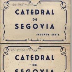 Postales: 2 CARPETILLAS: POSTALES CATEDRAL DE SEGOVIA . PRIMERA Y SEGUNDA SERIE .. Lote 41235182