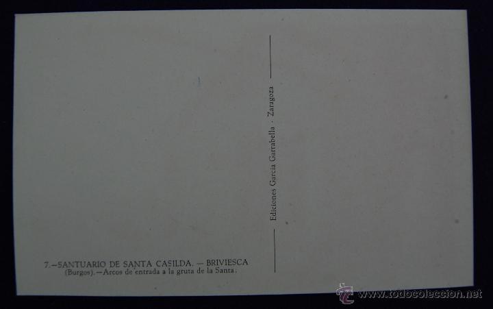 Postales: POSTAL DE BRIVIESCA (BURGOS). SANTUARIO DE SANTA CASILDA. ARCOS DE ENTRADA A LA GRUTA DE LA SANTA. - Foto 2 - 42027709
