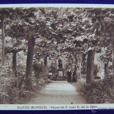Postales: POSTAL DE BUJEDO (BURGOS). PASEO DE S. JUAN B. DE LA SALLE. FOTOS H. TARSICIO. AÑOS 40. COLOR SEPIA. Lote 42028216