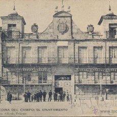 Postales: RARISIMA POSTAL AYUNTAMIENTO MEDINA DEL CAMPO - VALLADOLID - COLECCION ALFREDO VELASCO - 1900. Lote 42324119