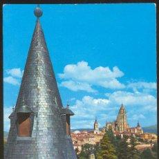 Postales: 45- SEGOVIA.- LA CATEDRAL DESDE LAS ALMACENAS DEL ALCAZAR.. Lote 42647272