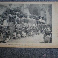 Postales: BURGOS GIGANTES Y CABEZUDOS POSTAL ANTIGUA . Lote 42693215
