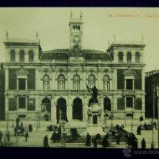 Postales: POSTAL DE VALLADOLID. CASA CONSISTORIAL. EDITADA POR F. ZAPATERO. AÑO 1914. Lote 42780190
