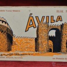 Postales: ALBUM DE POSTALES DE AVILA. CASTILLA Y LEON. BLOK Nº4. FOT. L. ROISIN. 20 TARJETAS. Lote 42887357