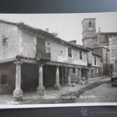 Postales: POSTAL FOTOGRÁFICA BURGOS, LERMA. CALLE DEL REVENTON. CORDELERIA DE JUAN SEBASTIAN. Lote 42984363