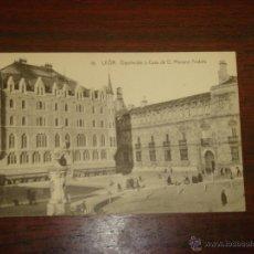 Postales: ANTIGUA POSTAL DE LEÓN. DIPUTACIÓN Y CASA DE D.MARIANO ANDRÉS(GAUDI).Nº16.EDIC.FOT.GRACIA. S/CIRCULA. Lote 43075395