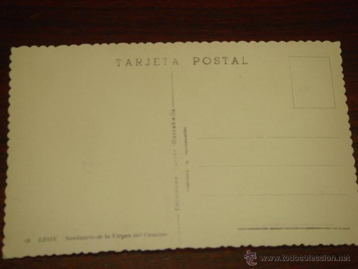 Postales: ANTIGUA POSTAL DE LEÓN. SANTUARIO DE LA VIRGEN DEL CAMINO. Nº49.EDIC. GRACIA GARRABELLA.SIN CIRCULAR - Foto 2 - 43075747
