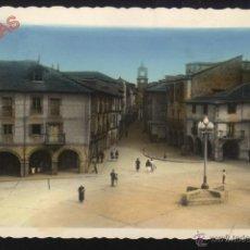 Postales: L-0093- PONFERRADA (LEÓN). PLAZA DE LA ENCINA Y CALLE ISIDRO RUEDA (COLOREADA). Lote 43109345