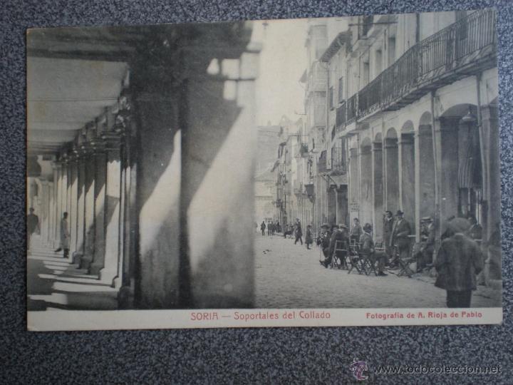 SORIA SOPORTALES DEL CALLADO POSTAL ANTIGUA (Postales - España - Castilla y León Antigua (hasta 1939))