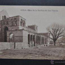 Postales: ANTIGUA POSTAL DE AVILA. VISTA DE LA BASILICA DE SAN VICENTE. FOT. MAYORAL ENCINAR. SIN CIRCULAR. Lote 43781301