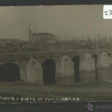 Postales: TORQUEMADA - PUENTE Y VISTA DE TORQUEMADA - FOTOGRAFICA R.ALONSO - (23315). Lote 43794202